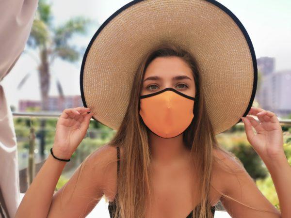Mascarilla Reutilizable Supertranspirable Naranja