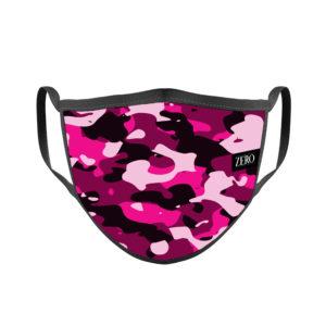 mascarilla reutilizable tela ligera camuflaje rosa