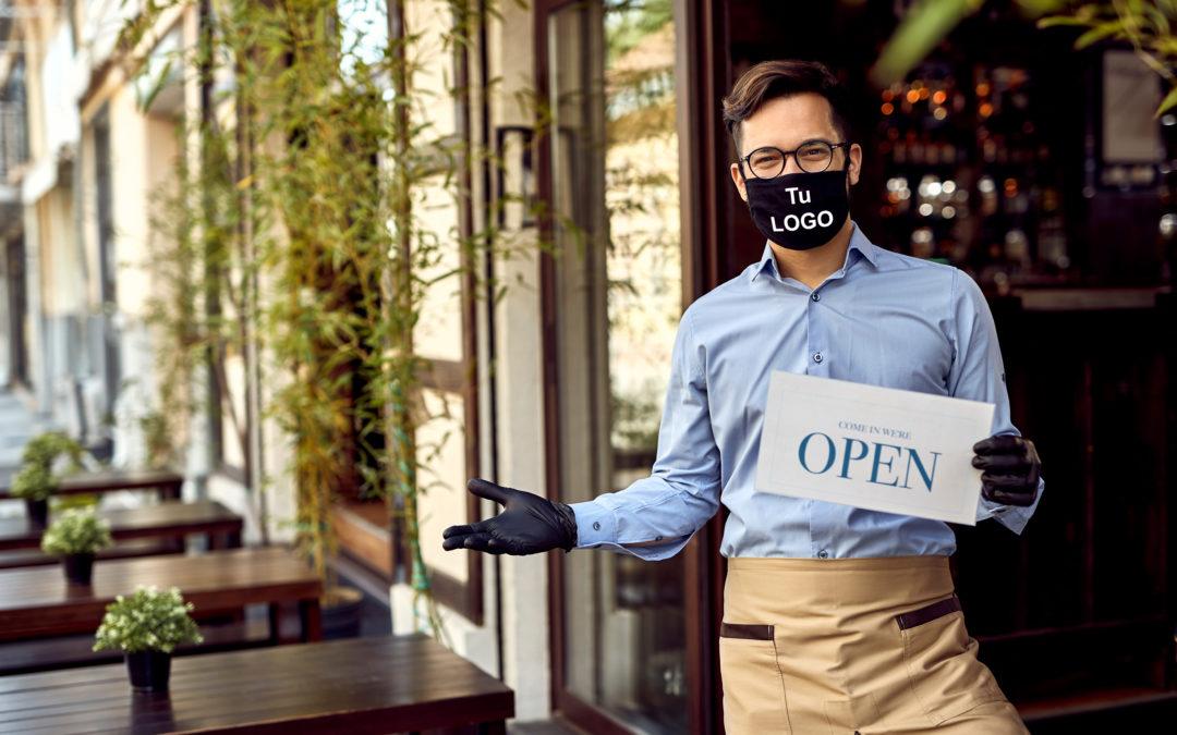 Personalizamos mascarillas para empresas, corporaciones,….
